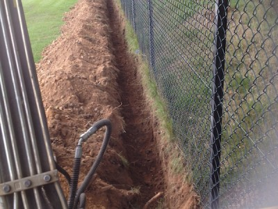Fencing trench in Esher