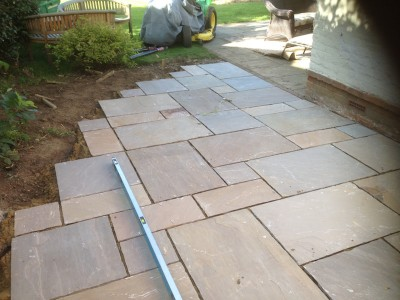 Patio paving in Epsom
